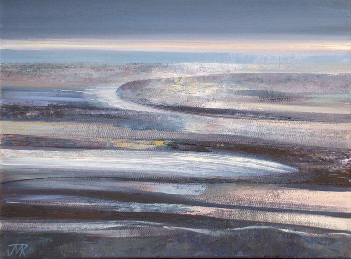 Acrylic landscape painting of Morecambe Bay