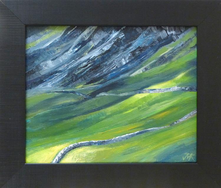 Acrylic painting of Eskdale, Cumbria