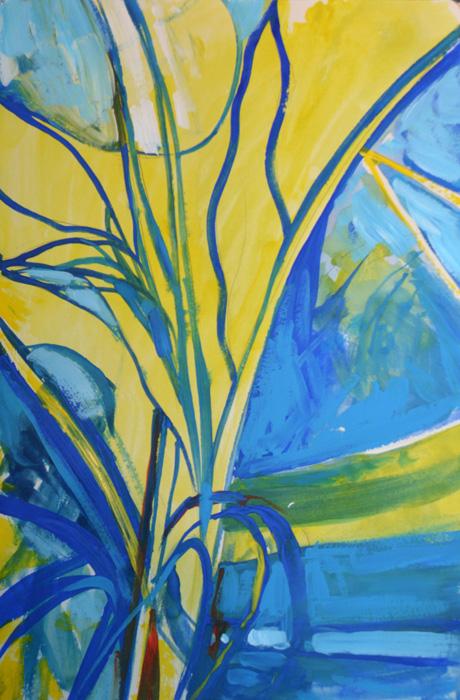 Banana plant, acrylic