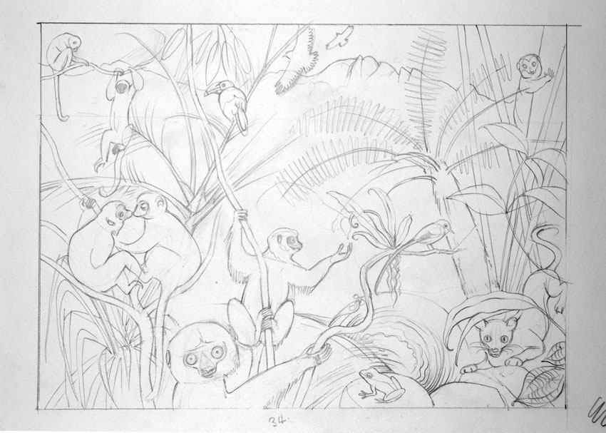 Layout drawing for the illustration